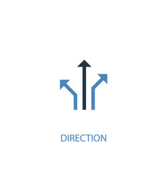 direction concept 2 colored icon simple blue vector image