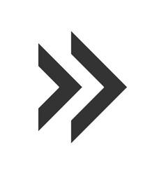 Double arrow glyph icon rewinding button vector
