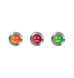 Emoticon icon set vector