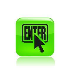enter icon vector image
