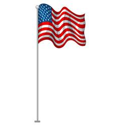 flag design united states america vector image