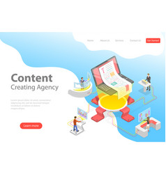 flat isometric landing pate template of vector image