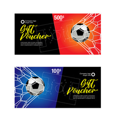 Football gift voucher vector