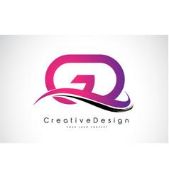 gd g d letter logo design creative icon modern vector image