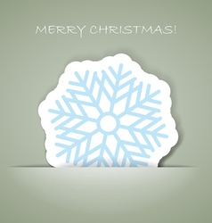 Greeting card with paper flake vector
