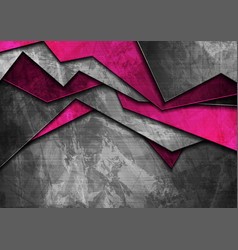 grunge tech material purple and dark grey vector image