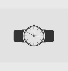 hand wrist watch icon wristwatch vector image