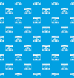 Happy columbus day pattern seamless blue vector