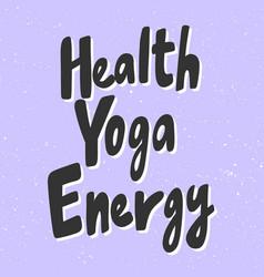 Health yoga energy sticker for social media vector