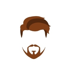 Hipster Male Hair and Facial Style With Extended vector image