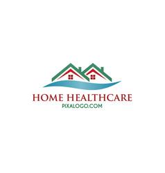 Home healthcare logo vector