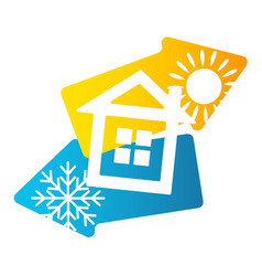House air conditioning and ventilation vector