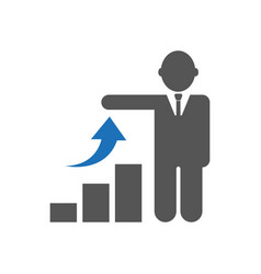 Investor icon on white background flat vector