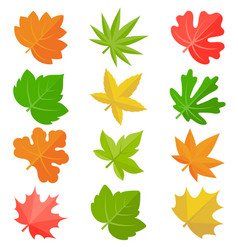 Leaves icon set 2 vector
