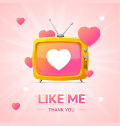 like me thanks you social media concept vector image