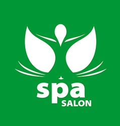 logo for Spa salon on a green background vector image