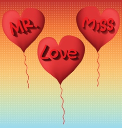 Love to mr and miss vector