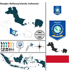 Map of BangkaBelitung Islands vector