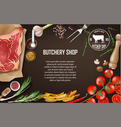meat banner for restaurant or butcher shop fresh vector image