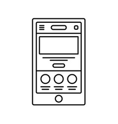 Mobile website wireframe lined icon touch device vector