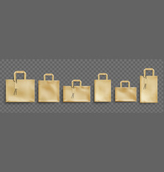 mockup craft paper eco bags vector image