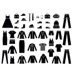 Monochrome of clothes for male and vector