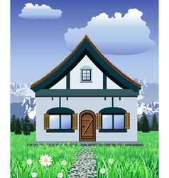mountain chalet vector image