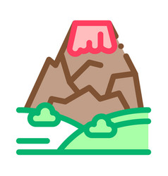 mountain concept icon outline vector image