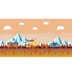 Mountain landscape with house vector image