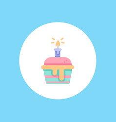 muffin icon sign symbol vector image