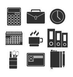 Office equipment icon set vector