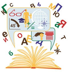 open book and knowledge vector image