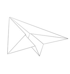 Paper airplane outline drawing vector