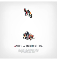 People map country Antigua and Barbuda vector