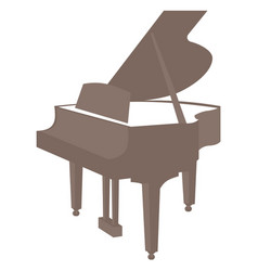piano icon isolated on white background vector image