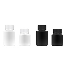pills jar different width white and black medical vector image