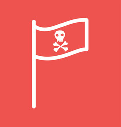 Pirate flag i vector