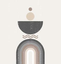 rainbow print boho minimalist printable wall art vector image