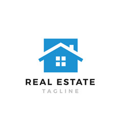 real estate house symbol web icon logo template vector image