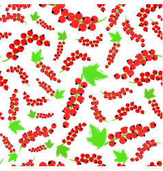Red currents background painted pattern vector