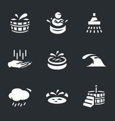 set of water treatment icons vector image