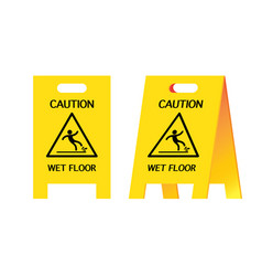 Signal warning wet floor vector