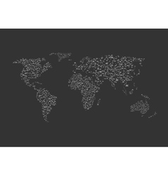 Silver balls world map vector image