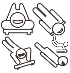 Skeleton icons vector image