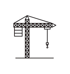 Sketch silhouette crane machinery for construction vector