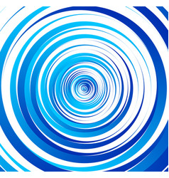 Spiral element concentric circles with brush vector