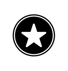 star round glyph icon user interface icon vector image