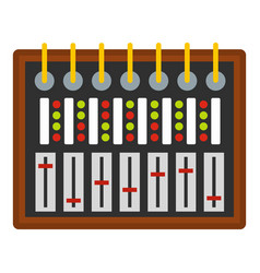 Studio sound mixer icon isolated vector
