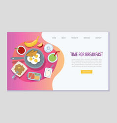 time for breakfast web template vector image
