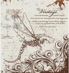 vintage ilustration vector image